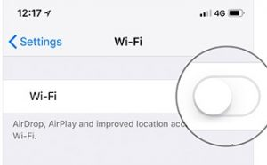 Turn Off Wi-Fi on iOS